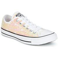 Schoenen Dames Lage sneakers Converse CHUCK TAYLOR ALL STAR SEQUINS OX WHITE/BLACK/WHITE Wit / Paillettes