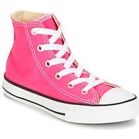 Schoenen Meisjes Hoge sneakers Converse CHUCK TAYLOR ALL STAR SEASONAL HI PINK POW Roze