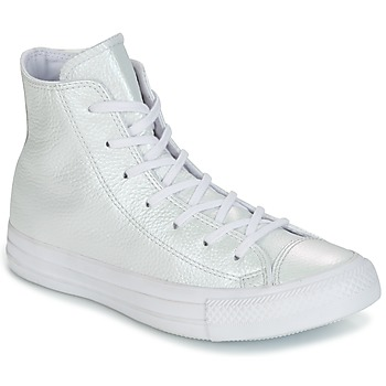 Schoenen Dames Hoge sneakers Converse CHUCK TAYLOR ALL STAR IRIDESCENT LEATHER HI IRIDESCENT LEATHER H Viininpunainen