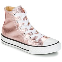Schoenen Meisjes Hoge sneakers Converse CHUCK TAYLOR ALL STAR METALLIC SEASONAL HI METALLIC SEASONAL HI Roze / Wit / Zwart