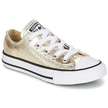 Schoenen Meisjes Lage sneakers Converse CHUCK TAYLOR ALL STAR Goud / Wit / Zwart