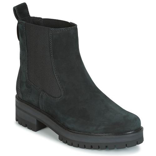 Schoenen Dames Laarzen Timberland COURMAYER VALLEY CHELSEA Zwart