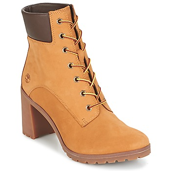 Schoenen Dames Enkellaarzen Timberland ALLINGTON 6IN LACE UP Brown