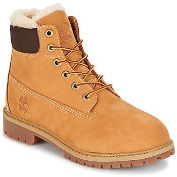 Schoenen Kinderen Laarzen Timberland 6 IN PRMWPSHEARLING LINED Brown