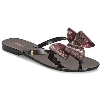 Schoenen Dames Slippers Melissa HARMONIC TARTAN AD Zwart