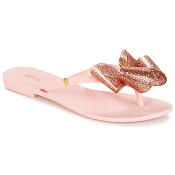 Schoenen Dames Slippers Melissa HARMONIC TARTAN AD Roze