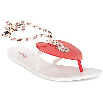 Schoenen Dames Slippers Melissa BLISS II SP AD Wit / Rood
