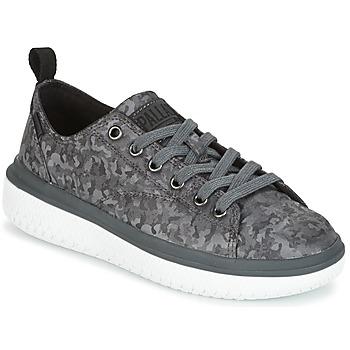 Schoenen Dames Lage sneakers Palladium CRUSHION LACE CAMO Zwart / Grijs