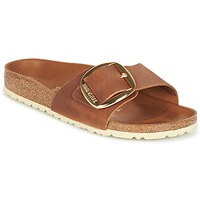 Schoenen Dames Leren slippers Birkenstock MADRID BIG BUCKLE Brown
