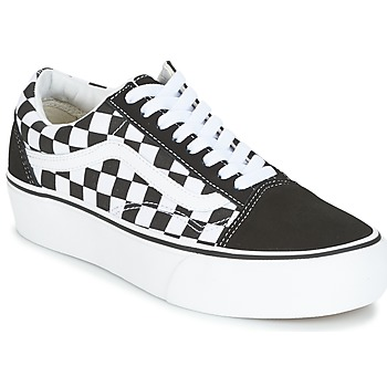 Schoenen Dames Lage sneakers Vans UA OLD SKOOL PLATFORM Zwart / Wit