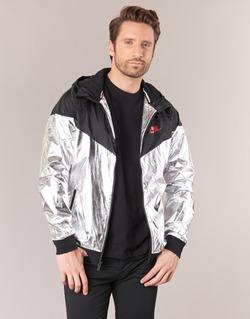 Textiel Heren Windjacken Nike WINDRUNNER METALLIC Zwart / Zilver