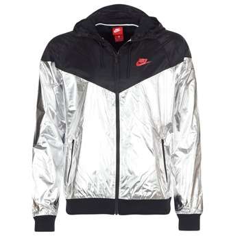 Textiel Heren Windjacken Nike WINDRUNNER METALLIC Zwart / Zilver
