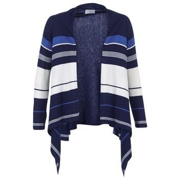 Textiel Dames Vesten / Cardigans Casual Attitude IHARINE Marine / Wit