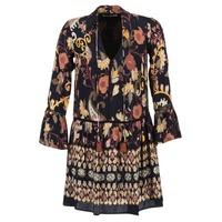 Textiel Dames Korte jurken Derhy DEGUSTATION Zwart / Multikleuren