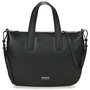 Tassen Dames Handtassen kort hengsel Armani jeans DILAF Zwart