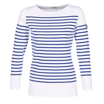 Textiel Dames T-shirts met lange mouwen Armor Lux ROADY Wit / Blauw