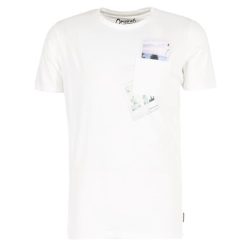 Textiel Heren T-shirts korte mouwen Jack & Jones CHECK ORIGINALS Wit