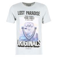 Textiel Heren T-shirts korte mouwen Jack & Jones FASTER ORIGINALS Grijs