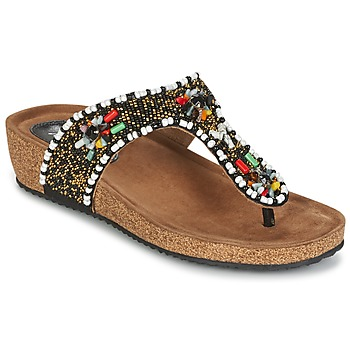 Schoenen Dames Sandalen / Open schoenen Metamorf'Ose ZABUSTE Zwart / Multikleuren