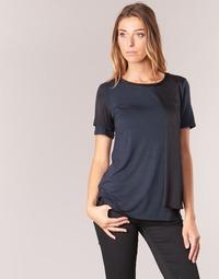 Textiel Dames T-shirts korte mouwen Armani jeans DRANIZ Marine / Zwart