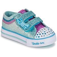 Schoenen Meisjes Lage sneakers Skechers Shuffles Wit / Blauw