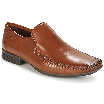 Schoenen Heren Mocassins Clarks Ferro Step TAN / Leather