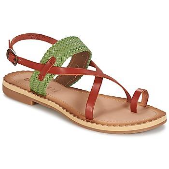 Schoenen Dames Sandalen / Open schoenen Kickers SAFAL  CAMEL / Groen