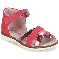 Schoenen Meisjes Sandalen / Open schoenen Kickers GIGI  fuchsia / Roze / Métal