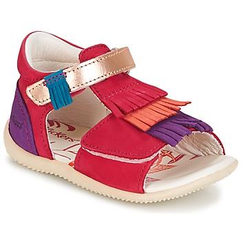 Schoenen Meisjes Sandalen / Open schoenen Kickers BIHILANA  fuchsia / Orange / Violet
