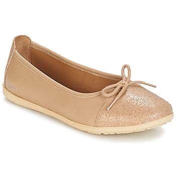 Schoenen Meisjes Ballerina's Kickers EDANA Beige