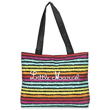 Tassen Dames Tote tassen / Boodschappentassen Little Marcel MIRAGE Zwart / Multikleuren