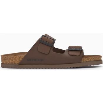 Schoenen Heren Leren slippers Mephisto NERIO Brown