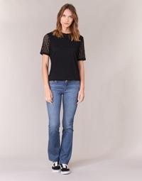 Textiel Dames Bootcut jeans Yurban IHEKIKKOU BOOTCUT Blauw / Medium