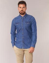 Textiel Heren Overhemden lange mouwen Casual Attitude IHERZI Blauw / Medium