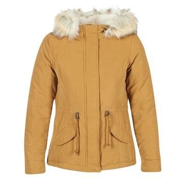 Textiel Dames Parka jassen Only NEW LUCA Mosterd