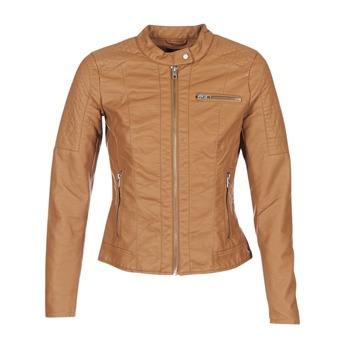 Textiel Dames Leren jas / kunstleren jas Only READY Cognac