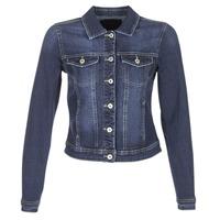 Textiel Dames Spijker jassen Only WESTA Blauw / Donker