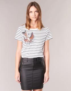 Textiel Dames T-shirts korte mouwen Only KIRA Wit