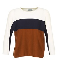 Textiel Dames Truien Only REGITZE Wit / Marine / Brown