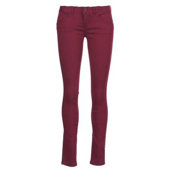 Textiel Dames 5 zakken broeken Only LUCIA Bordeaux