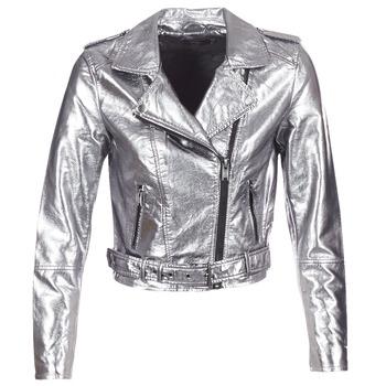 Textiel Dames Leren jas / kunstleren jas Only ANN Zilver