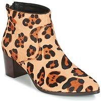 Schoenen Dames Enkellaarzen Bocage MELODY Leopard