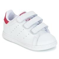 Schoenen Meisjes Lage sneakers adidas Originals STAN SMITH CF I Wit / Roze