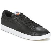 Schoenen Dames Lage sneakers Nike BLAZER LOW LEATHER W Zwart