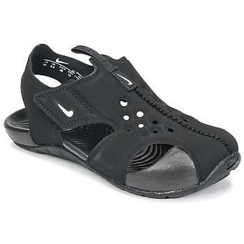 Schoenen Jongens Sandalen / Open schoenen Nike SUNRAY PROTECT 2 TODDLER Zwart / Wit