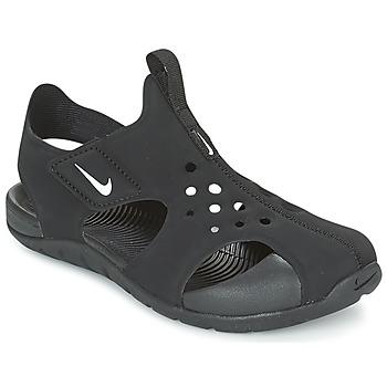 Schoenen Jongens Sandalen / Open schoenen Nike SUNRAY PROTECT 2 CADET Zwart / Wit
