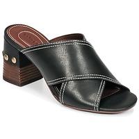 Schoenen Dames Leren slippers See by Chloé SB30083 Zwart