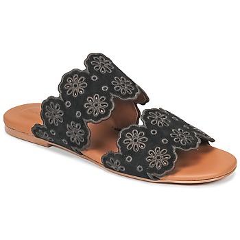 Schoenen Dames Leren slippers See by Chloé SB30182 Zwart