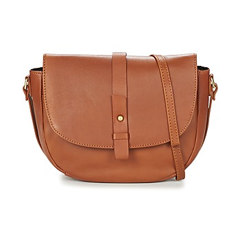 Tassen Dames Schoudertassen met riem Betty London LUISA Cognac