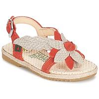 Schoenen Meisjes Sandalen / Open schoenen El Naturalista SAMOA Orange / Ecru
